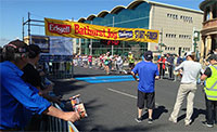 Finish line of the Bathurst Edgell Jog